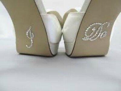I Do Wedding Shoe Stickers Crystal Rhinestone Diamante Novelty Bride Groom Gift