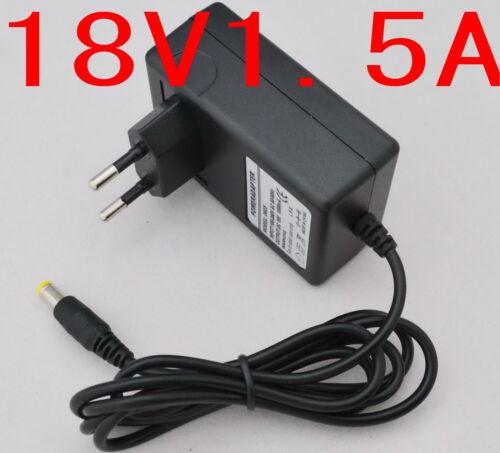 AC Converter Adapter DC 18V 1.5A Power Supply Charger EU plug DC 5.5mm 1500mA