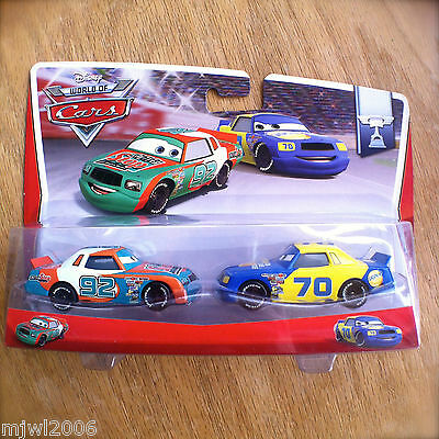 Disney World of Cars SPUTTER STOP & GASPRIN NO. 70 PISTON CUP 2014 2-PACK 7&8/16