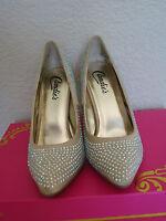 Candie's Women's Rhinestone-embellished Heels Dress Shoes Sz 5.5m $65