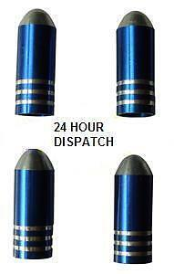 Blue Bullet Valve Dust Caps Skoda Fabia Octavia Superb