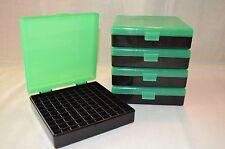 BERRYS PLASTIC AMMO BOX (5 PACK) ZOMBIE GREEN & BLACK 9MM / 380 ACP (100 rnd)