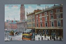 R&L Postcard: Leeds, Boar Lane, Sutton's Shop, Trams