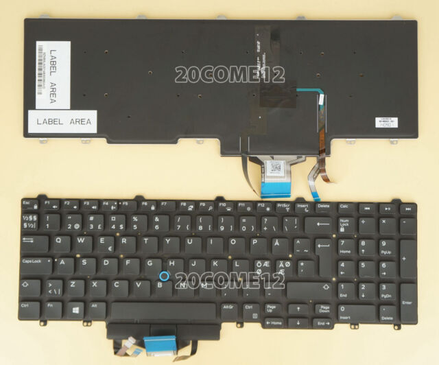 a35829084ad New For DELL Latitude E5580 5590 5591 Keyboard Backlit Nordic Swedish No  Frame