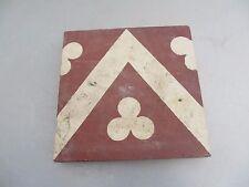 Original Victorian Ceramic Floor Tile Architectural Antique 1800's Vintage Old
