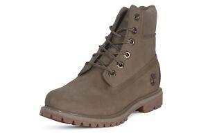 Timberland-6-inch-Premium-Waterproof-Women-039-s-Boots-Leather-Light-Green-TB0A1UQU