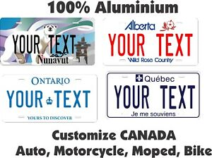 Canada-Tag-Custom-Personalized-Car-Motorcycle-Moped-Bike-Bicycle-License-Plate