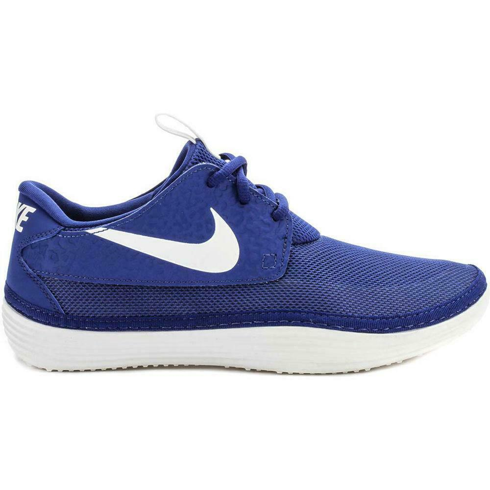 Mens NIKE Solarsoft Moccasin Royal bluee Trainers 555301 403