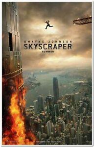 Skyscraper 2018 Original 27x40 D S Advance Movie Poster Dwayne Johnson Ebay