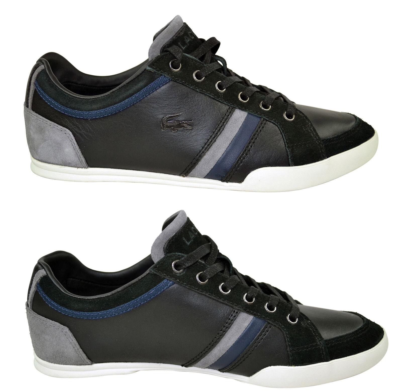Lacoste Rayford SRM black Leather Suede Schuhe Sneaker schwarz Gr. 40 Sale