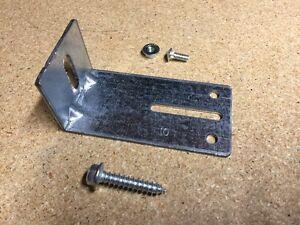 Jamb Bracket J-10 Garage Door w// Lag /& Track Bolt Overhead Replace Hardware #10