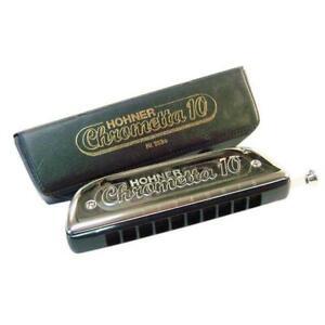 Hohner-Chrometta-10-Chromatic-Harmonica-Mouth-Organ-In-C