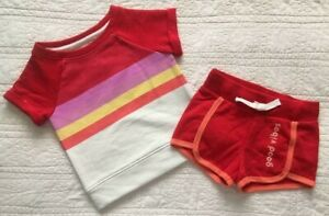 New Infant Toddler Girls French Terry Short And Top Set Good Vibes Choose Size