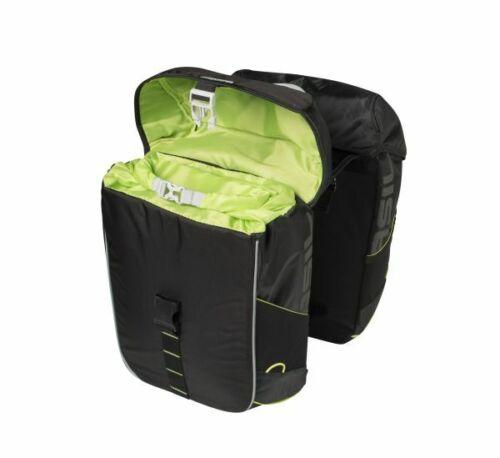 Basil Miles double Bag Porte-bagages-BON Paquet Sac 34 L noir résistant à l/'eau