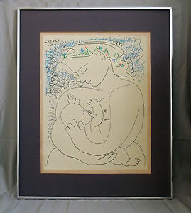 Pablo Picasso \'La Maternite\' 1963 color Lithograph signed and dated ...