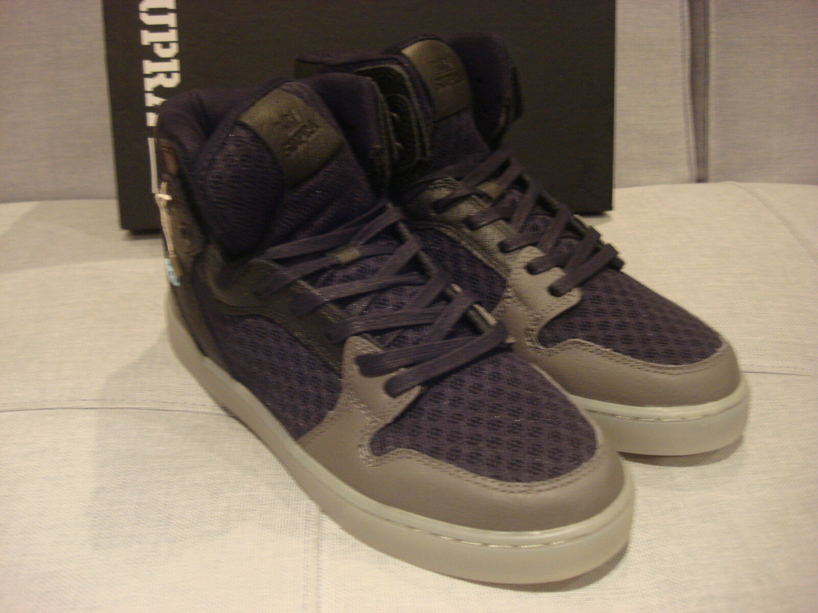 SPECTRE by SUPRA MEN'S VAIDER LX BLACK GREY CLEAR S68004 SIZE 10 SHOES - NEW