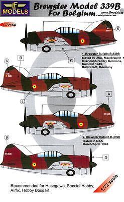 LF Models Decals 1/72 BREWSTER MODEL 339B BUFFALO BELGIAN AIR FORCE