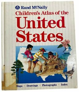Vintage Book Children's Atlas of the United States by Rand McNally Hardcover