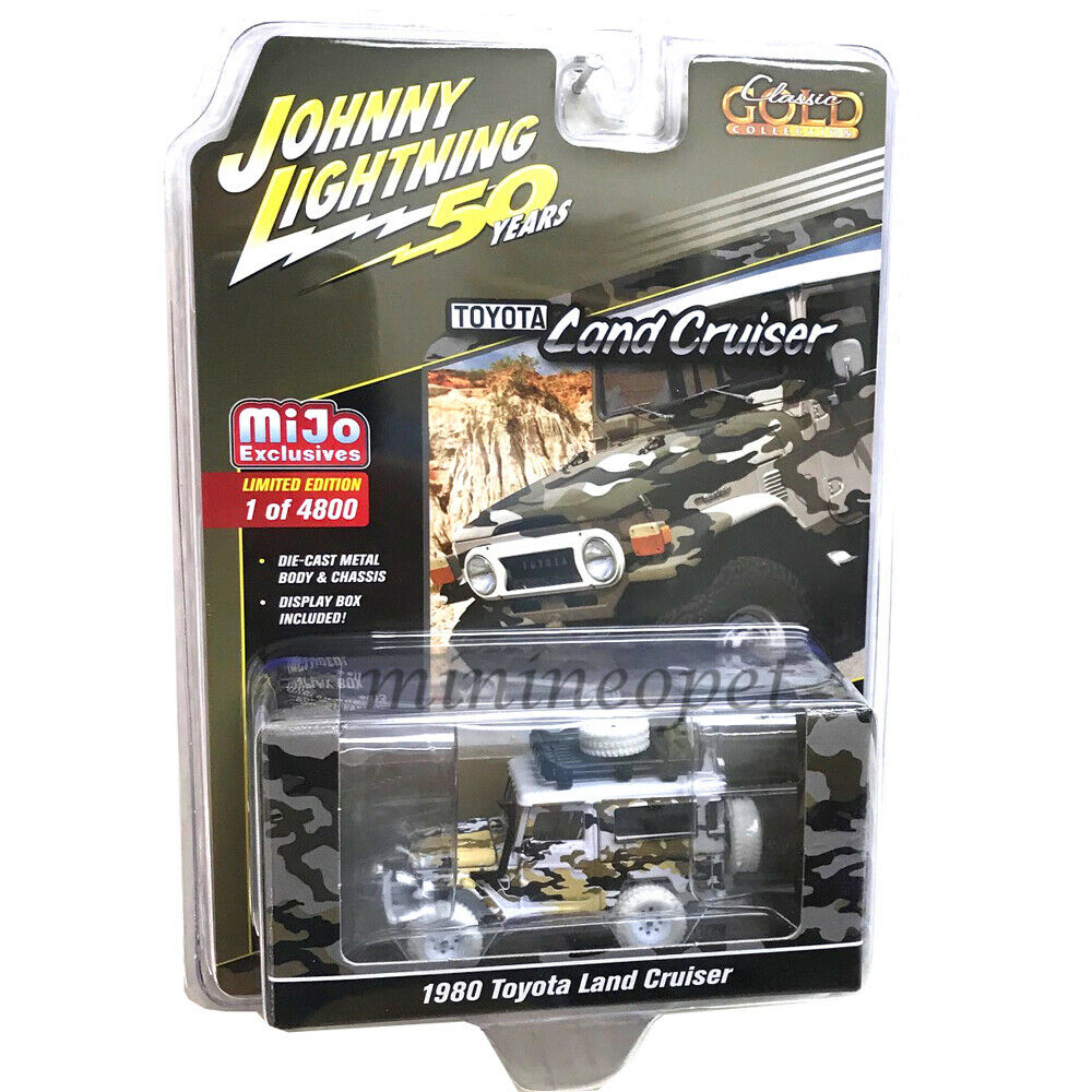 JOHNNY Weiß LIGHTNING JLCP7246 4x4 OFF ROAD 1980 TOYOTA LAND CRUISER 1 64 Chase