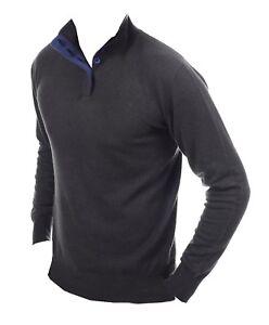 L cobalto Balldiri Antracite 2 Pullover blu Fädig Cashmere 100 Men Buttons vRvCfnp