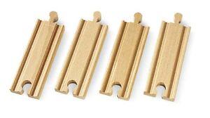 BRIO-tren-de-madera-4-Piezas-1-2-Recto-A1-33334-NUEVO-Railes