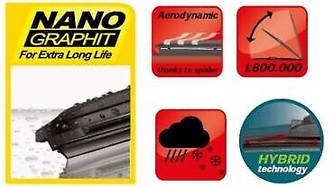 "PEUGEOT 106 1991-2003 HEYNER windscreen aeroflat  WIPER BLADES 20/""18/"""