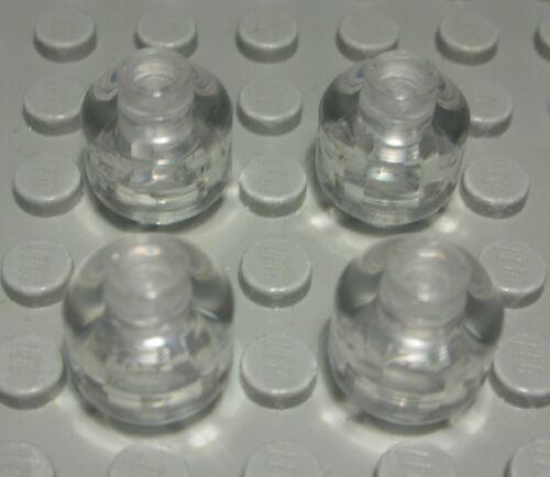 1055 DO Lego Stein Kopf 1,5x1,5 rund Glas Transparent 4 Stück