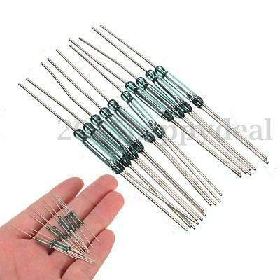 10Pcs Reed Switches Magnetic Switch Induction Switch N/O N/C SPDT 2.5X14MM New