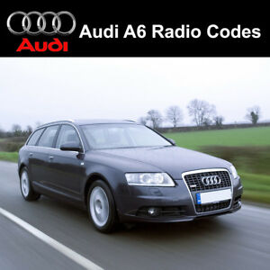 Details about Audi A6 Radio Codes Unlock Stereo Code PIN   Concert -  Symphony - Chorus RNS-E
