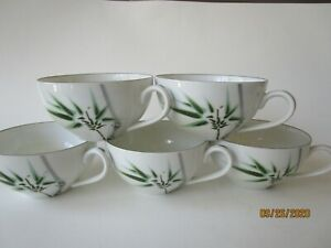 5-Fukagawa-Arita-718-Cups-Handpainted-Made-In-Japan-RARE