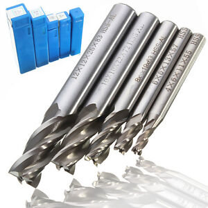 5x-HSS-CNC-4-Flute-Fraise-Foret-Perceuse-Drill-Bit-End-Mill-Cutter-4-6-8-10-12mm