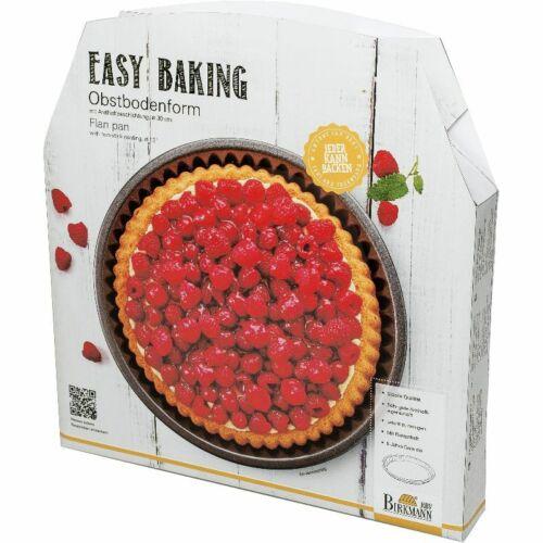 BIRKMANN Easy Baking Obstbodenform 30cm Kuchenform Obstkuchenform antihaft NEU