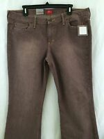 Mossimo Juniors Brown Weathered Stretch Boot Cut Denim Jeans Size 17