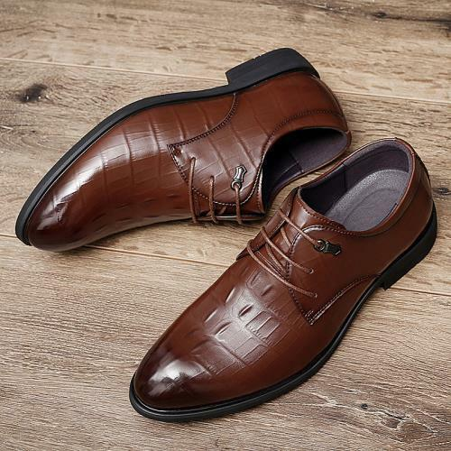Details about  /Mens Work Lace up Oxfords Non-slip Casual Low Top Business Leisure Leather Shoes