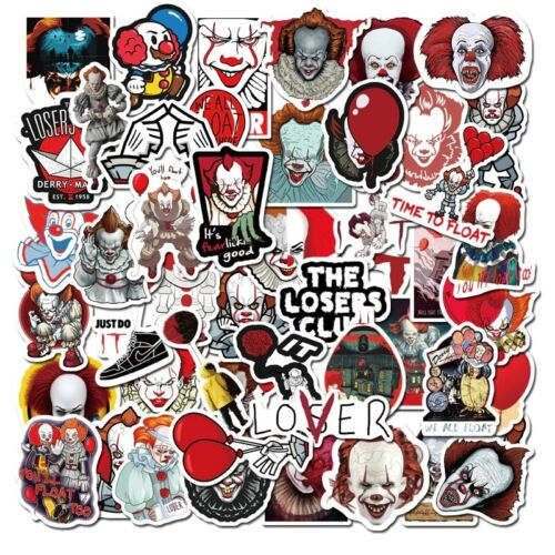 50PCS Newly Movie It Chapter Two Joker Anime Sticker Cartoon For Skateboard PVC