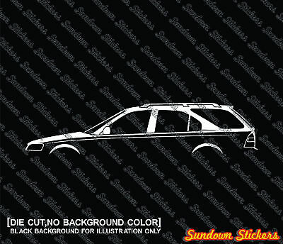 Details about  2X Car silhouette stickers for Honda Civic Aerodeck wagon VTi