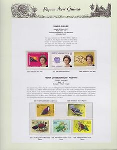 1977-PNG-PAPUA-NEW-GUINEA-Silver-Jubilee-Fauna-Pigeons-STAMP-SET-K-442