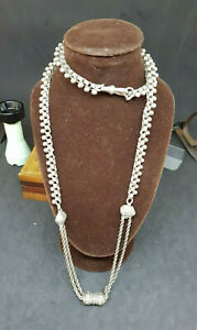 ANTIQUE-BEAUTIFUL-1900-039-S-SOLID-SILVER-POCKET-WATCH-CHAIN