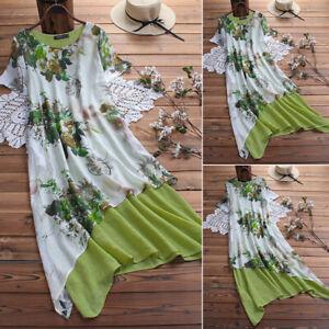 ZANZEA-8-24-Women-Long-Midi-Sundress-Kaftan-Caftan-Abaya-Printed-Floral-Dress