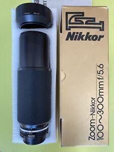 Objectif-Tele-Zoom-NIKON-AI-S-Nikkor-100-300mm-f-5-6-Dans-sa-boite-d-origine