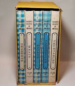 Favorite Recipes Of America Cookbooks Complete Box Set 5 Volumes Vintage 1968**