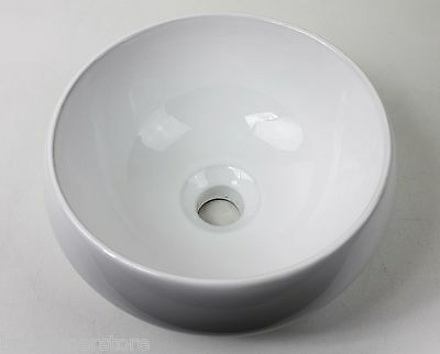 Small Compact NEW Counter Top ROUND 310 Dia x 155mm Round Ceramic Basin Bowl