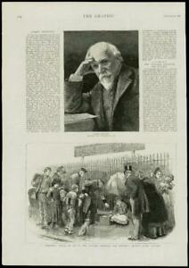 1889-Antique-Print-PICTURE-ROBERT-BROWNING-LONDON-VICTORIA-HOSPITAL-180