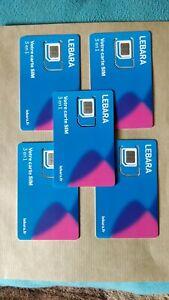 activation carte sim lebara LOT DE 5 CARTES SIM Lebara numéro activer, pas de crédit | eBay