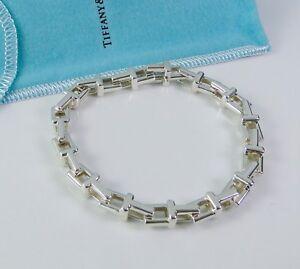 f37c1da838016 NEW Tiffany & Co. Tiffany T Sterling Silver Chain Bracelet RARE 8 ...