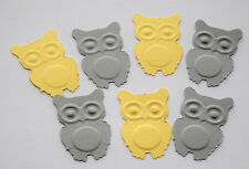100 Yellow and Gray Owls,Baby Shower,Confetti,Woodland,1st Birthday,Owl Theme