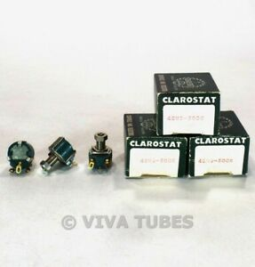 NOS-NIB-Vintage-Lot-of-3-Clarostat-48M9-Potentiometers-500000-50K-ohm
