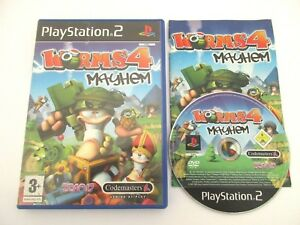 WORMS-4-MAYHEM-SONY-PLAYSTATION-2-Jeu-PS2-Complet-PAL-Fr