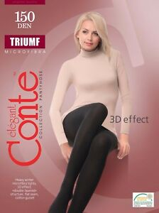 Conte-TIGHTS-Triumf-150-Den-Warm-Cozy-Elastic-Winter-Microfibra-Pantyhose