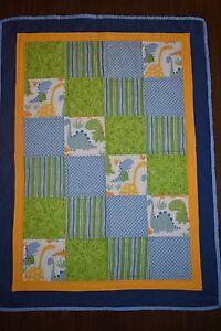 Baby Boy's Dinosaur cot quilt - handmade